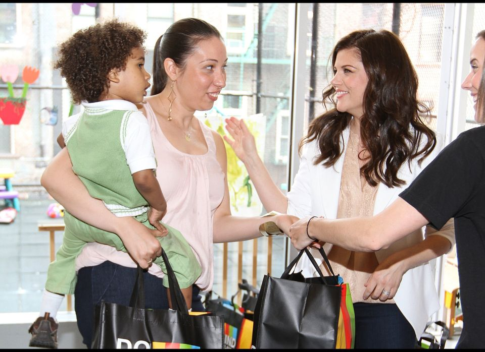 Tiffany Thiessen helps deliver diapers to New York parents in need.
