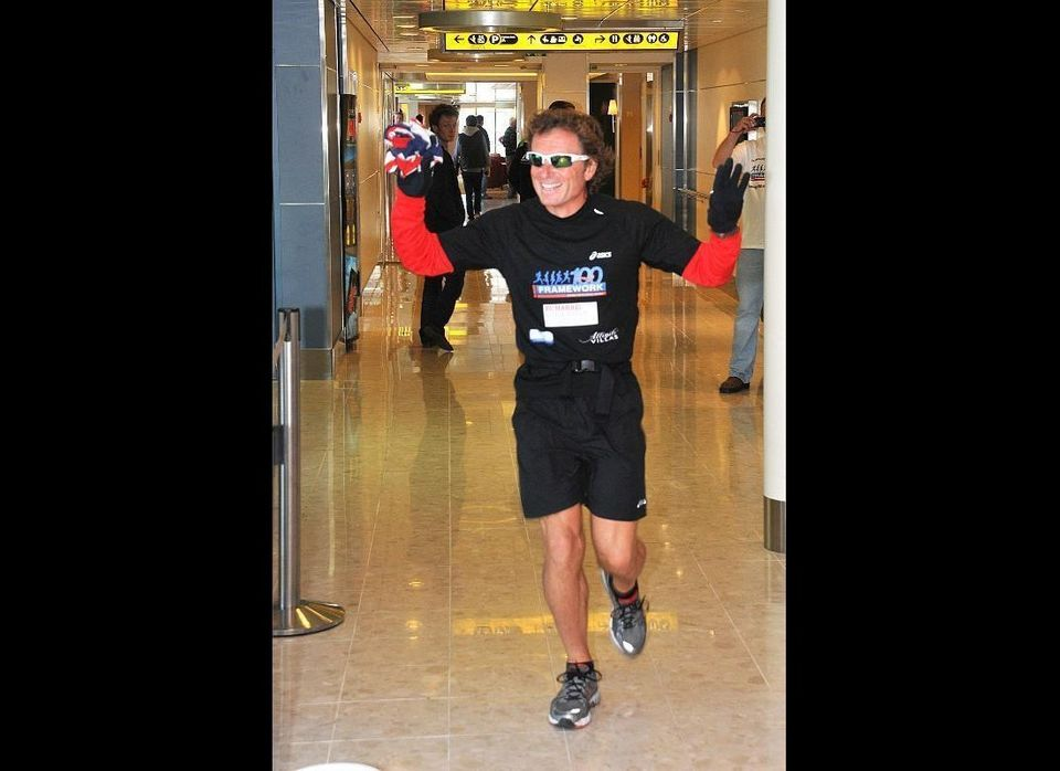 Matthew Loddy, 46, had never run a marathon before embarking on his challenge to complete 26.2 miles every day, 100 days days