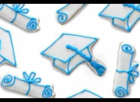 """Give your graduate a sweet treat! These custom-baked and hand-iced cookies are made to order by <a href=""""http://bakingforgood"""