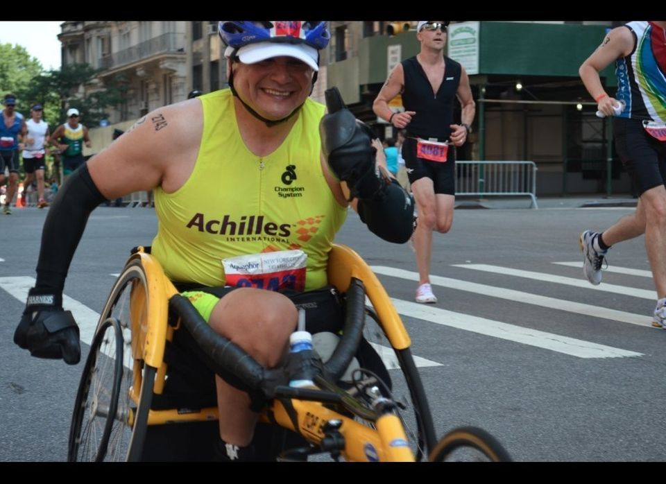 Achilles International invites anyone with any disability, to train with the organization for intense endurance challenges. T