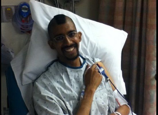 Arijit Guha, 31, raised money for his own chemo by selling T-shirts on his site, Poop Strong, after Aetna placed restrictions