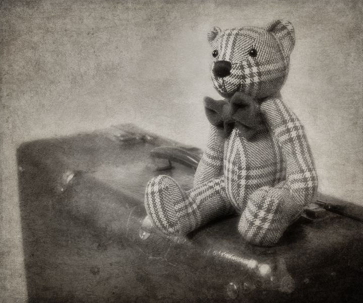 vintage style teddy bear and...