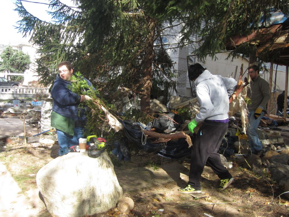 Tired of waiting for outside help to swoop in, residents of the hard-hit Tottenville, Staten Island neighborhood have come to