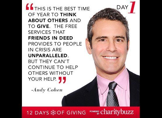 """<strong>Andy Cohen</strong> is auctioning the chance to <a href=""""http://www.charitybuzz.com/categories/101/catalog_items/3231"""