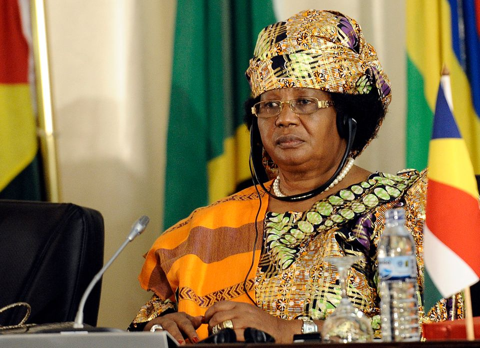 Malawian President Joyce Banda attends on August 18, 2012, the closing ceremony of the 32nd Southern African Development Comm
