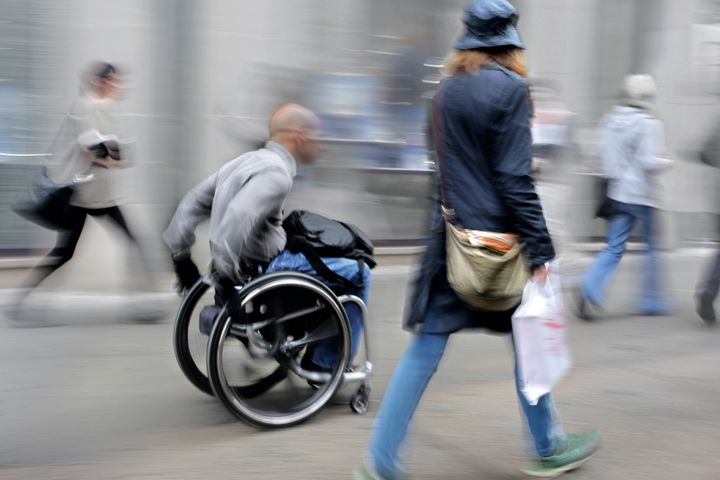 handicapped male person on a ...