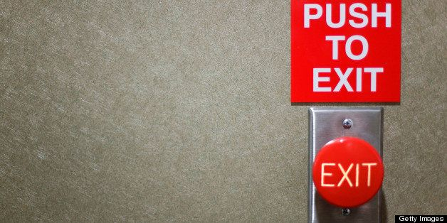 A push button door switch.