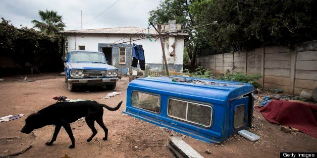 PRETORIA, SOUTH AFRICA - FEBRUARY 25: (SOUTH AFRICA OUT)  General view of a squatter's house in Daspoort on February 25, 2013