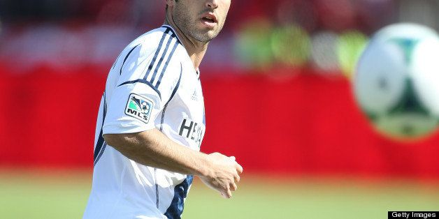 TORONTO, CANADA - MARCH 30:  Landon Donovan #10 of the Los Angeles Galaxy plays in an MLS game against the Toronto FC on Marc