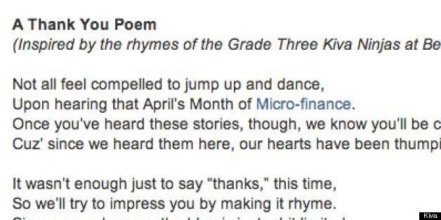 A Poetic Recap To The Month Of Microfinance   HuffPost