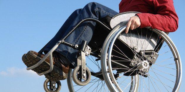 closeup of handicapped woman...