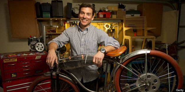 BOULDER, CO. - JANUARY 24:   People and places with advertising whiz Alex Bogusky in his garage/workshop at his Boulder home