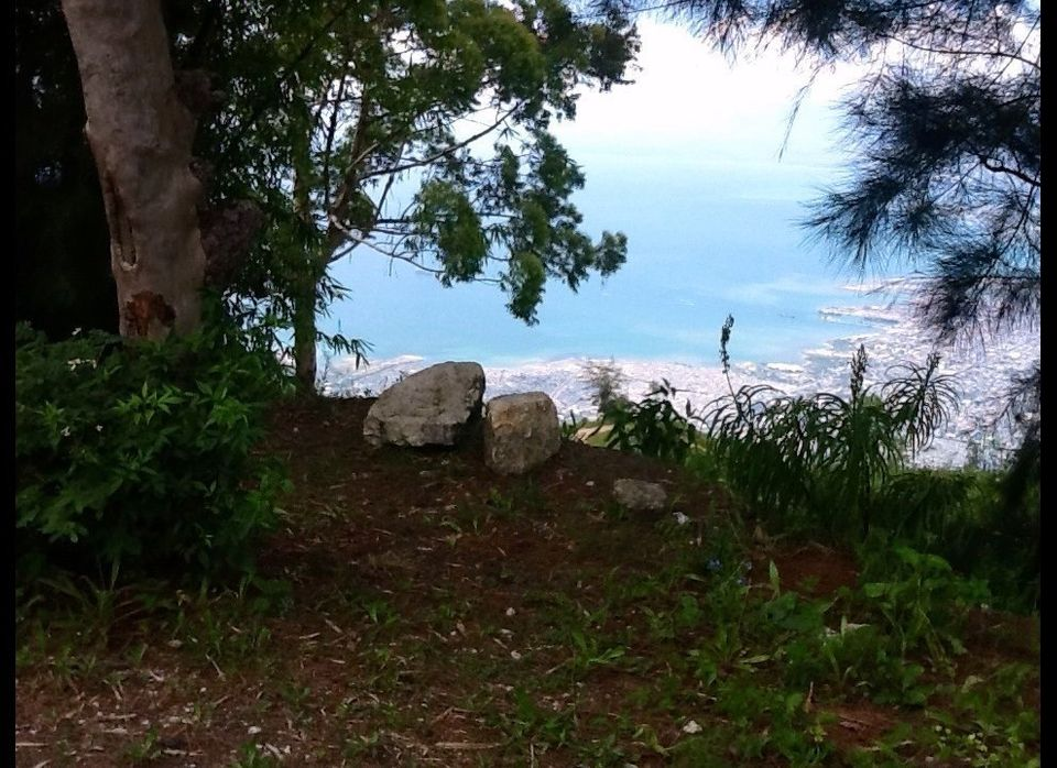 Want to come sit with me and enjoy the view?  This is up in Petion-ville, the nice area of Port-au-Prince. You can tell it's