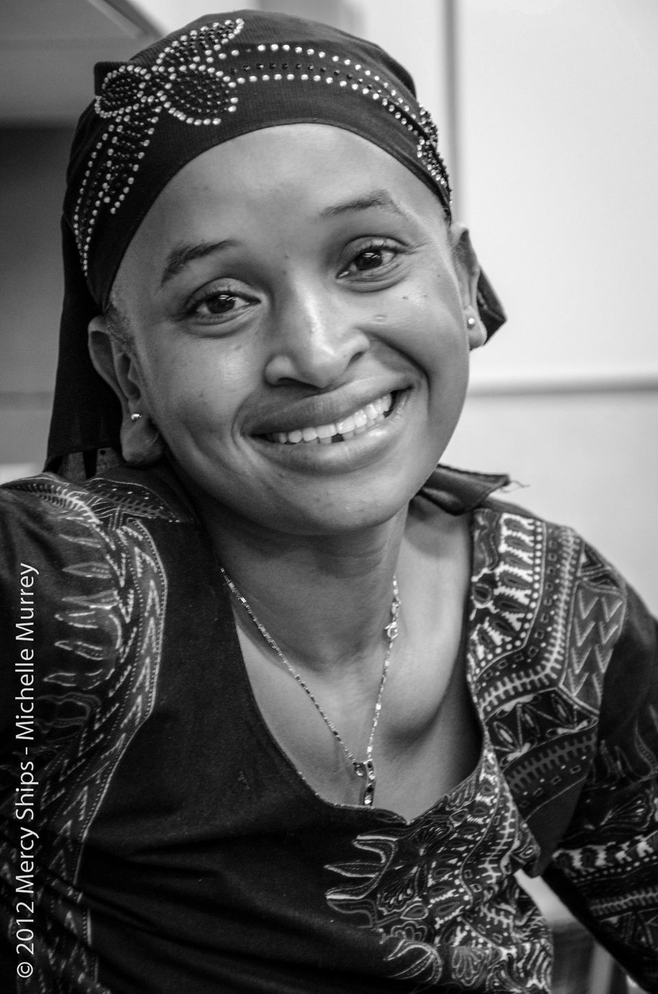 Michelle Murrey, Mercy Ships photographer, took this beautiful portrait of Mariama on the day she was admitted to the Africa