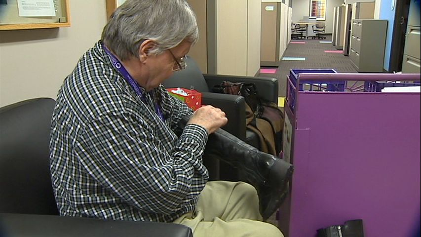 Albert Lexie has been a shoe shiner at Children's Hospital of Pittsburgh for 32 years. Over the years, he has donated his tip