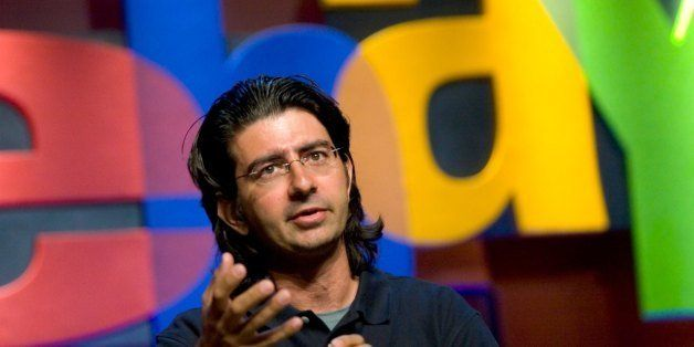 Pierre Omidyar, founder and chairman of the board of eBay, speaks at the eBay Developer's Conference in Boston, Massachusetts