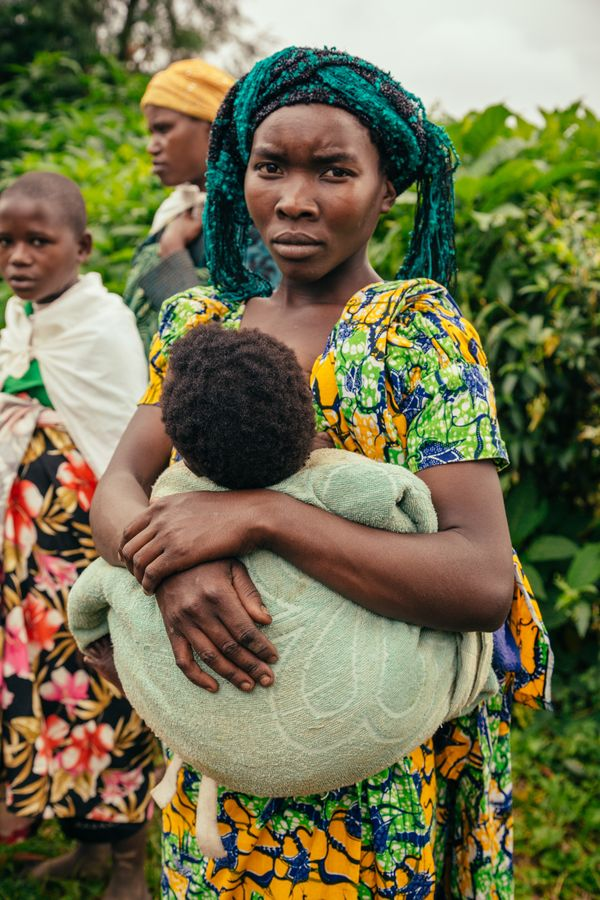Soleil, 20 years old, gave birth to both of her children in the bush, after she fled armed fighting in her village. <br> <br>