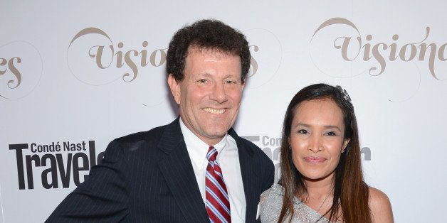 NEW YORK, NY - SEPTEMBER 18:  New York Times columnist Nicholas D. Kristof and author Somaly Mam attend the Conde Nast Travel