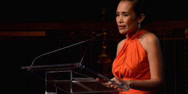 NEW YORK, NY - OCTOBER 23:  Author and human rights advocate Somaly Mam speaks onstage at the Somaly Mam Foundation Gala 'Lif