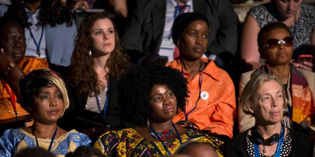 LONDON, ENGLAND - JULY 22:  Delegates listen to the speeches at the 'Girl Summit 2014' in Walworth Academy on July 22, 2014 i
