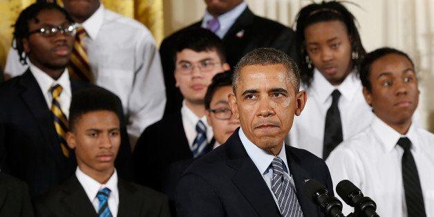 WASHINGTON, DC - FEBRUARY 27:  U.S. President Barack Obama speaks during an event in the East Room of the White House Februar