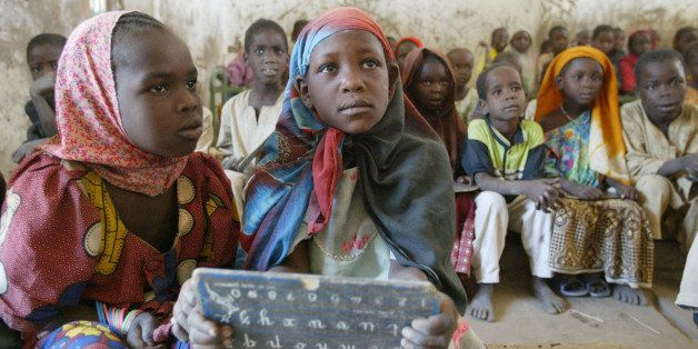 School children in their classroom in Ecole Mani, Chad, 120 km (75 miles) south of the capital, N'djamena, Tuesday, Feb. 21,