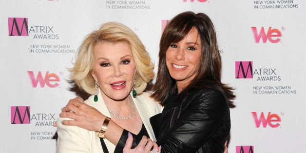 FILE - In this April 22, 2013 file photo, Television personalities Joan Rivers, left, and daughter Melissa Rivers attend the
