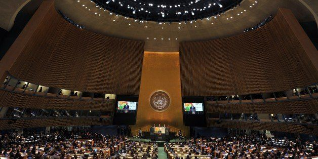 US President Barack Obama speaks during the opening session of the Climate Change Summit at the United Nations in New York Se