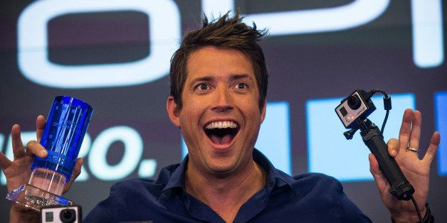 NEW YORK, NY - JUNE 26:  Nick Woodman, founder and CEO of GoPro speaks during the company's initial public offering (IPO) at