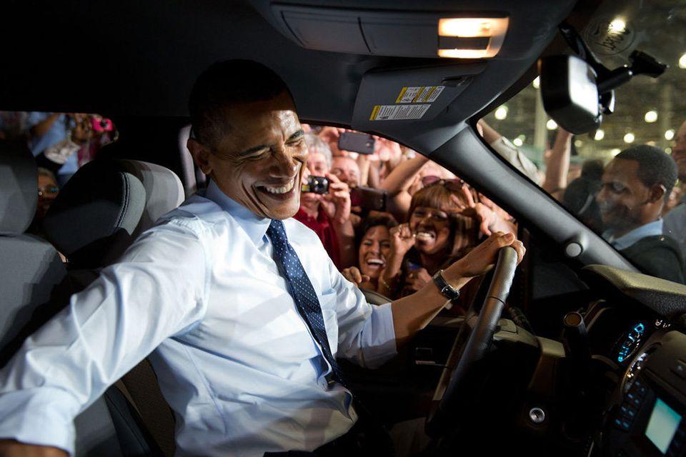 Barack Obama es un hombre que no oculta su sonrisa.