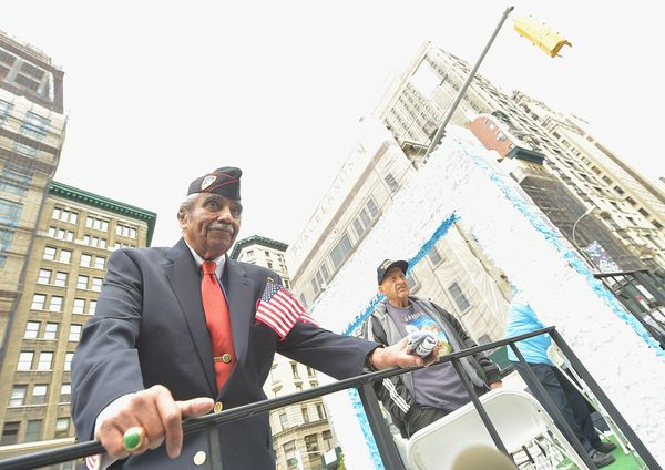 NEW YORK, NY - NOVEMBER 11:  Congressman Charles Rangel takes part in the annual Veterans Day Parade, aka 'America's Parade'