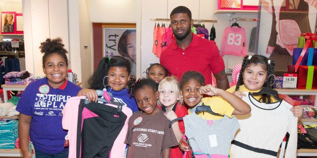 FAYETTEVILLE, GA - DECEMBER 02:  Atlanta Falcon Devin Hester surprises the Boys & Girls Club of Metro Atlanta with a holiday