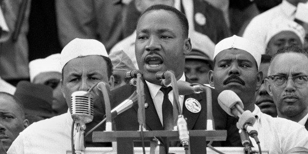 ** FILE ** In this Aug. 28, 1963, black-and-white file photo Dr. Martin Luther King Jr., head of the Southern Christian Leade