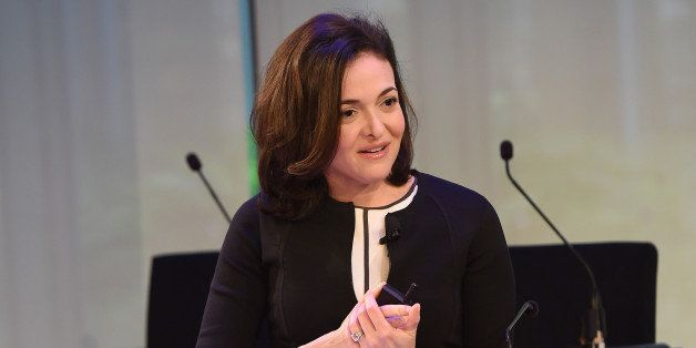 NEW YORK, NY - SEPTEMBER 29:  Sheryl Sandberg speaks onstage at the Rethinking Marketing to Women panel during AWXI at The Ti