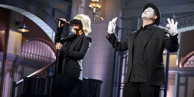 SATURDAY NIGHT LIVE -- 'Kevin Hart' Episode 1673 -- Pictured: Musical guest Sia performs on January 17, 2015 -- (Photo by: Da