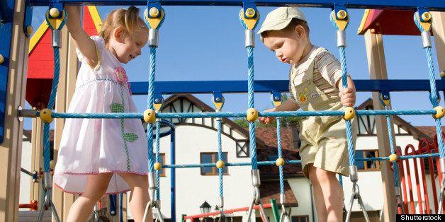 little children on playground