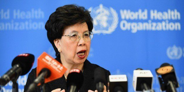 World Health Organization (WHO) Director-General Dr. Margaret Chan on August 8, 2014 in Geneva gives a press conference fol