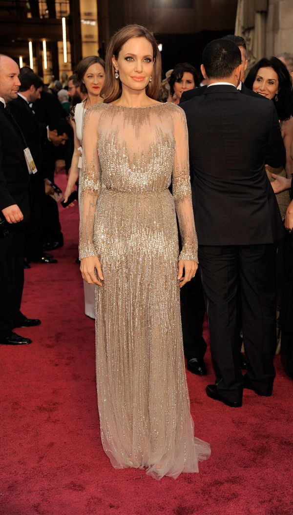 Ange is perfectly elegant in this beaded Elie Saab Couture gown.
