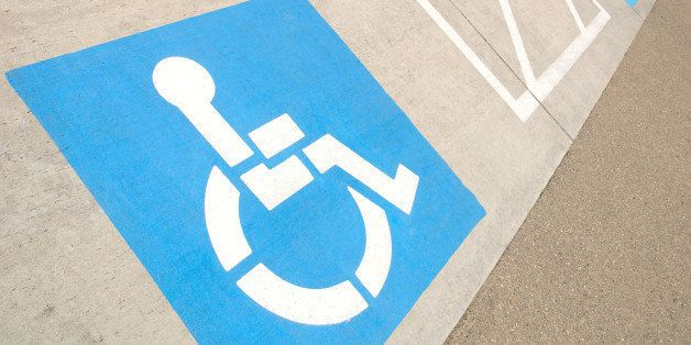 disabled parking space...