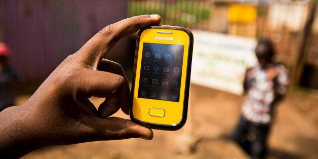 A Samsung Electronics Co. mobile phone is displayed for a photograph in Nairobi, Kenya, on Sunday, April 14, 2013. In the six