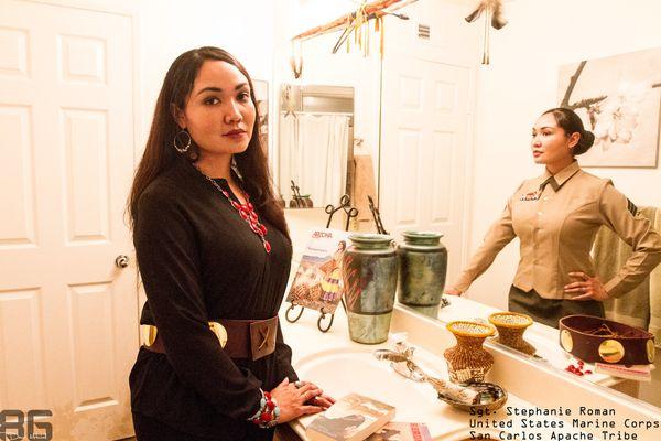 Sgt. Stephanie Roman  |  United States Marine Corps  |  San Carlos Apache Tribe