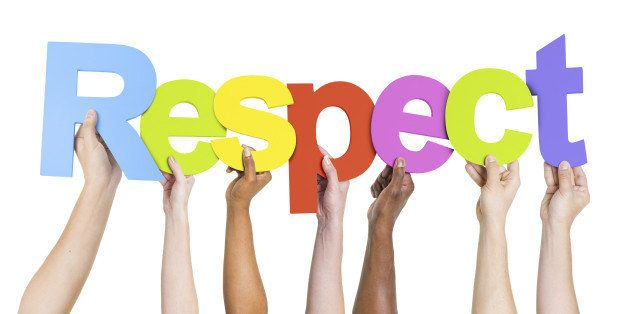 Group of Diverse People's Hands Holding Word Respect