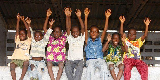 Togo, Lomé. African schoolchildren Togo.