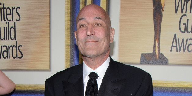 Sam Simon arrives at the Writers Guild Awards, on Saturday, Feb. 1, 2014, in Los Angeles. (Photo by Tonya Wise/Invision/AP)
