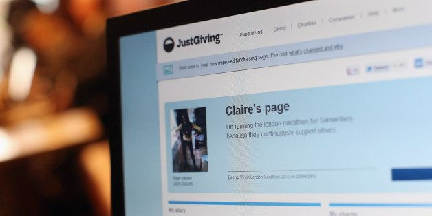 LONDON, ENGLAND - APRIL 24:  The sponsorship website set up by Claire Squires who died on Sunday whilst competing in the Lond