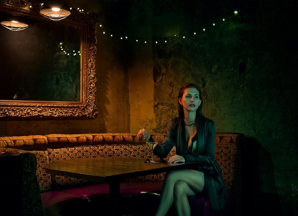 "A sexy, low-lit bar styled to resemble a Prohibition-era speakeasy, <a href=""http://www.greenrussell.com/"" target=""_blank"">Gr"