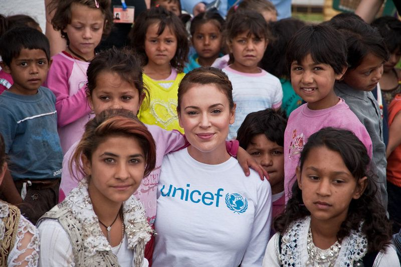 """<strong>Changed the game by ...</strong> taking the telethon viral. Milano, the former star of """"Charmed"""" and a UNICEF ambassa"""