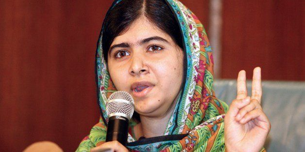 Pakistani education activist Malala Yousafzai gives a press conference on July 14, 2014 after meeting with the Nigerian presi
