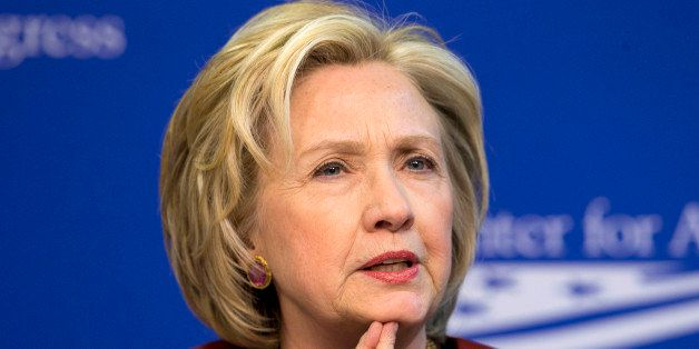 FILE - In this March 23, 2015 file photo, former Secretary of State Hillary Rodham Clinton speaks in Washington. Hillary Rodh
