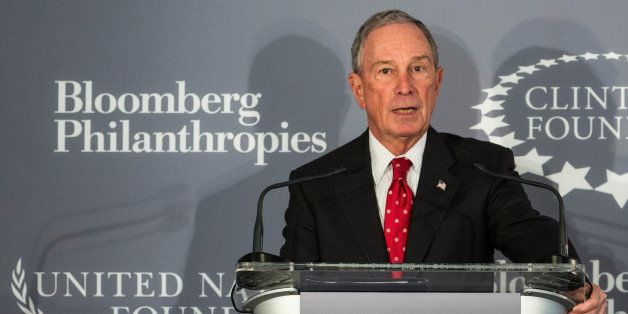 NEW YORK, NY - DECEMBER 15:  Former Mayor of New York City Michael Bloomberg speaks at a press conference announcing a new in